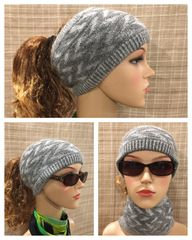 Gray mix Headband/Neck Warmer
