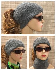 Gray Headband/Neck Warmer