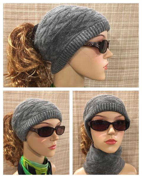 Gray Headband/Neck Warmer