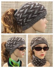 Brown mix Headband/Neck Warmer