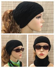 Black Headband/Neck Warmer