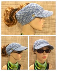Blue Mix Three Season Visor - Long Bill