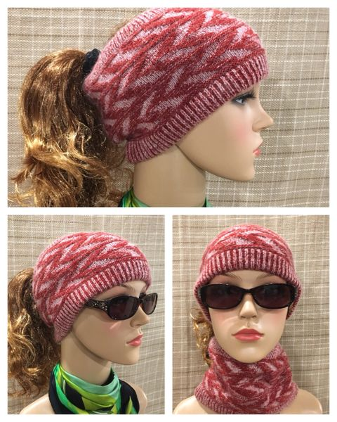 Fleece Lined Headband Burgundy Mix