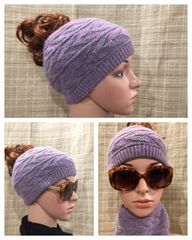 Charcoal Purple Headband/Neck Warmer