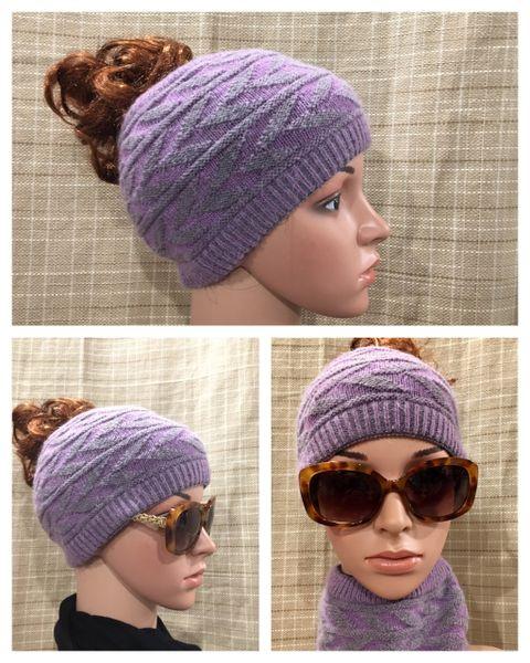 Charcoal Purple Headband/Neck Warmer