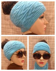 Turquoise Headband/Neck Warmer