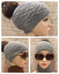 Distressed Denim Headband/Neck Warmer