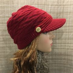 Burgundy Fleece-Lined Beanie