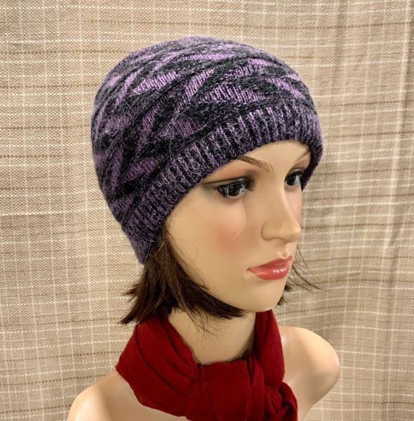 Fleece Lined Headband Dark Purple