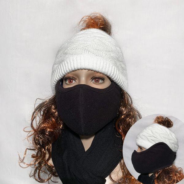 Black Fleece Face Wrap