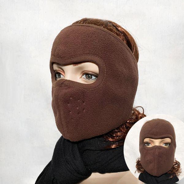 Brown Full Face Wrap