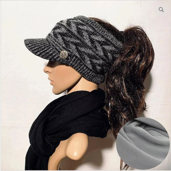 Black Mix Fleece Lined Sporty