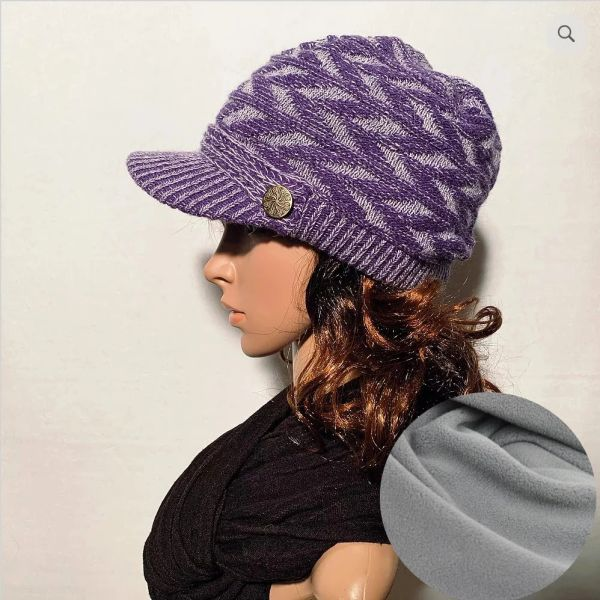 Purple Mix Fleece Lined Beanie