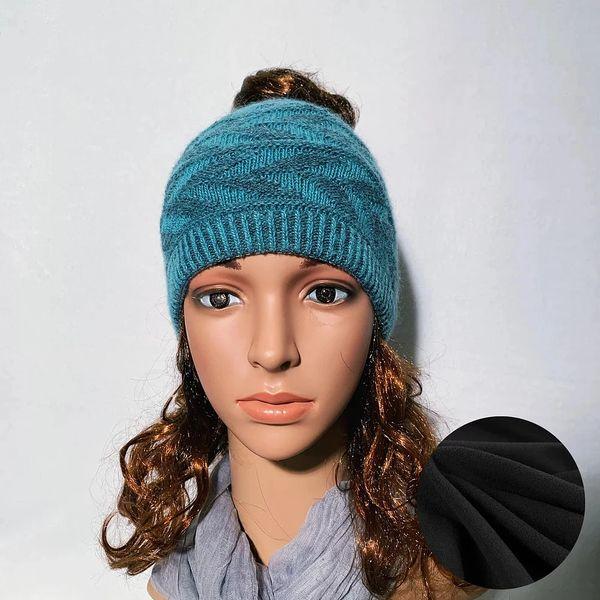 Fleece Lined Headband Charcoal Teal