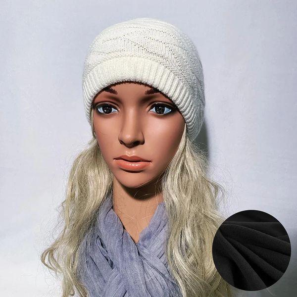 Fleece Lined Headband Off White