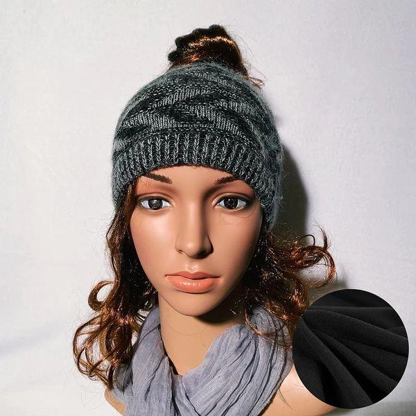Fleece Lined Headband Black Mix