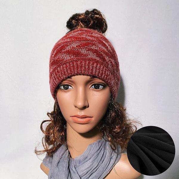 Fleece Lined Headband Burgundy Mix