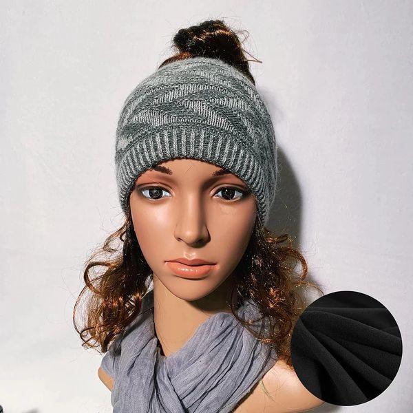 Fleece Lined Headband Gray Mix