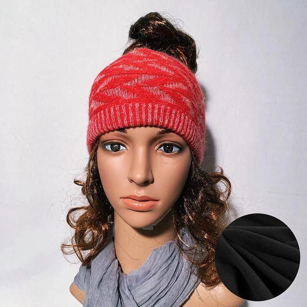 Fleece Lined Headband Red Mix