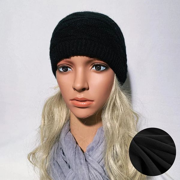 Fleece Lined Headband Black