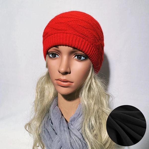 Fleece Lined Headband Red