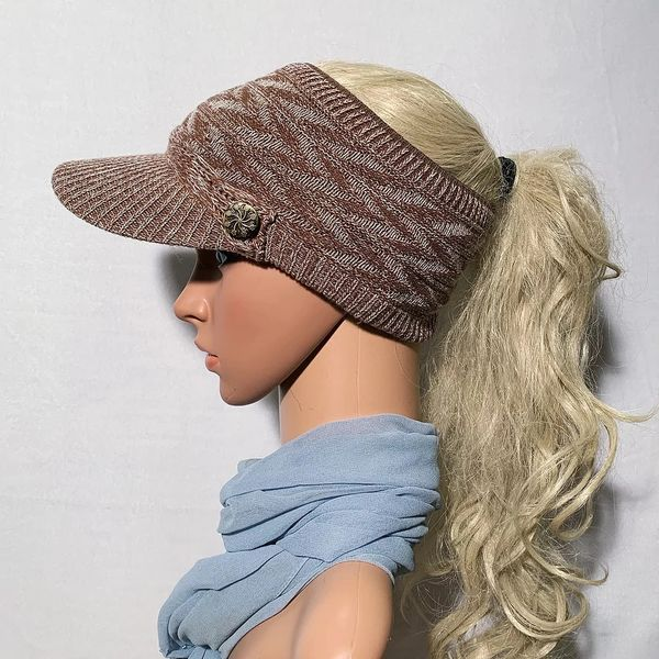Brown Mix Three Season Visor - Long Bill