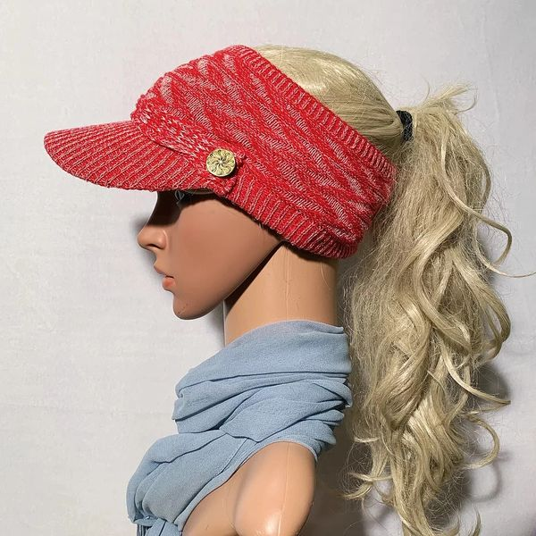 Red Mix Three Season Visor - Long Bill