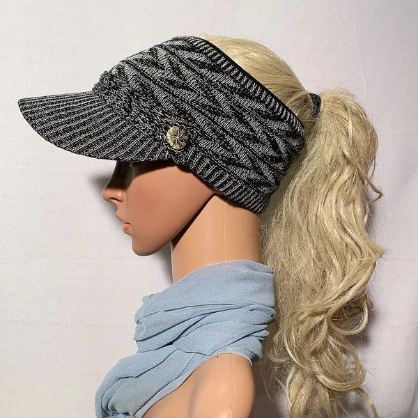 Black Mix Three Season Visor - Long Bill