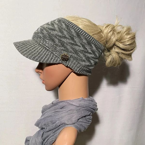 Gray Mix Three Season Short Visor
