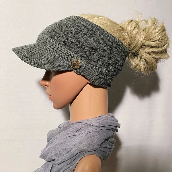 Gray Three Season Short Visor