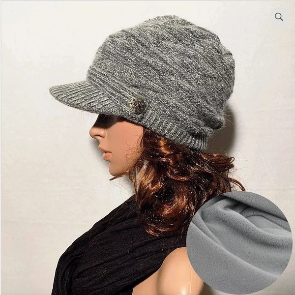 Random Gray Fleece Lined Beanie