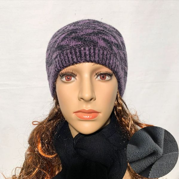 Fleece Lined Headband Dark Purple