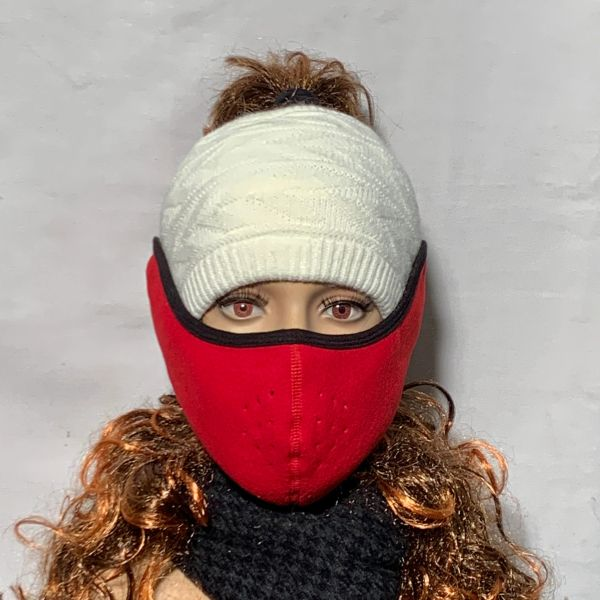 Red Fleece Face Wrap