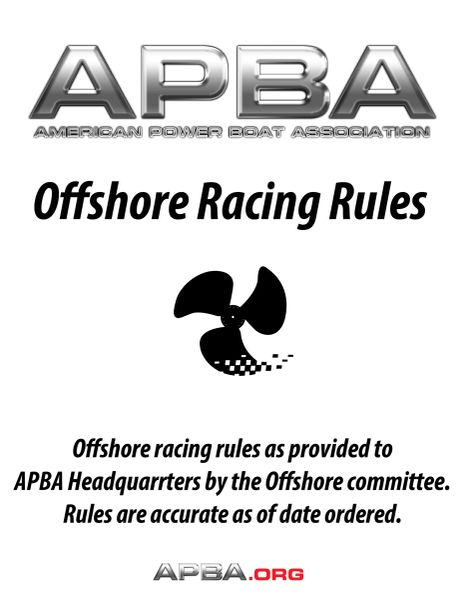 Offshore Racing Rules