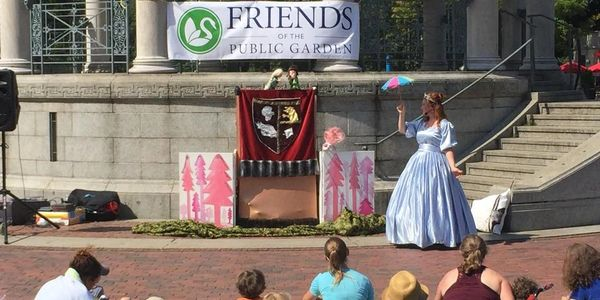 Puppet Show on Boston common. With Krystal Bly and Charlotte Dore