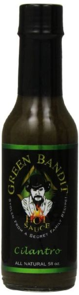 Green Bandit Cilantro Hot Sauce – (Single 5 Oz. Bottle)