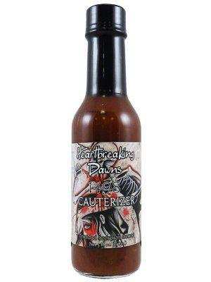 "Heartbreaking Dawns Cauterizer Trinidad Scorpion Sauce – (Twelve ""12"" Pack Of 5 Oz. Bottles)"
