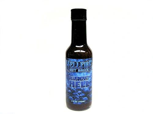 "Hellfire Blueberry Hell Hot Sauce – (Twelve ""12"" Pack Of 5 Oz. Bottles)"