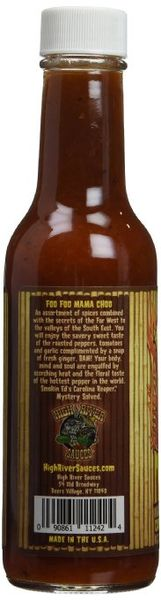 "High River Sauces Foo Foo Mama Choo Smokin Ed's Carolina Reaper Sauce – (Three ""3"" Pack Of 5.4 Oz. Bottles)"