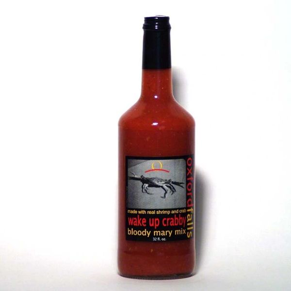 """Wake Up Crabby Made With Real Shrimp & Crab Bloody Mary Mix – (Two """"2"""" Pack Of 32 Oz. Bottles)"""