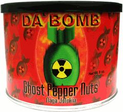 "Da Bomb Ghost Pepper Nuts – Naga Jolokia - (Three ""3"" Pack Of 8 Oz. Cans)"