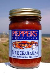 "Peppers Blue Crab Original Salsa - (Three ""3"" Pack Of 12 Oz. Bottles)"