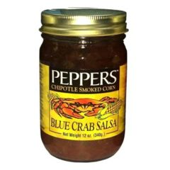 "Peppers Blue Crab Chipotle Smoked Corn Salsa - (Three ""3"" Pack Of 12 Oz. Bottles)"