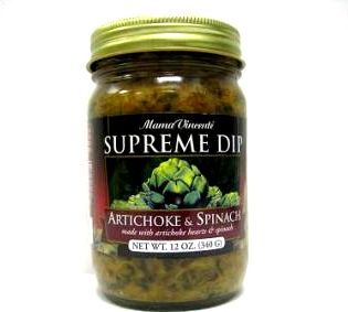 """Mama Vincente Supreme Dip - Artichoke & Spinach - (Two """"2"""" Pack of 12 Oz. Bottles)"""