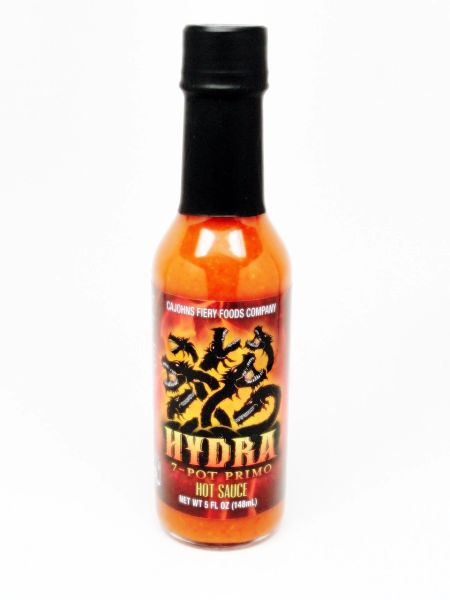 "Cajohn's Hydra 7- Pot Primo Hot Sauce - (Three ""3"" Pack of 5 Oz. Bottles)"