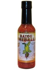 "Bayou Fireballs Louisiana Pepper Sauce – (Three ""3"" Pack Of 5 Oz. Bottles)"