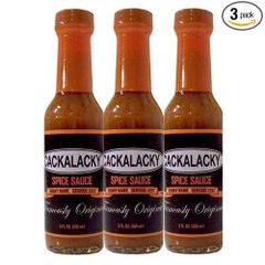 "Cackalacky Spice Sauce - (Three ""3"" Pack Of 5 Oz. Bottles)"
