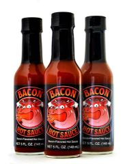 "Bacon Hot Sauce - (Three ""3"" Pack Of 5 Oz. Bottles)"