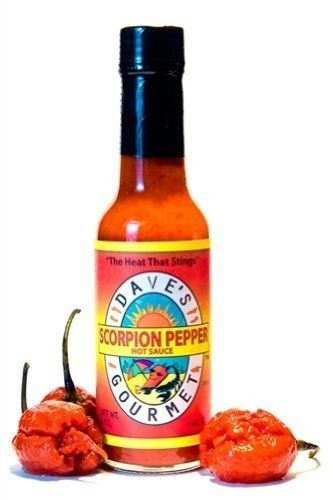 "Dave's Gourmet Scorpion Pepper Hot Sauce - (Three ""3"" Pack of 5 Oz. Bottles)"