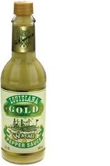 "Louisiana Gold Wasabi Pepper Sauce - (Single ""1"" 5 Oz. Bottle)"